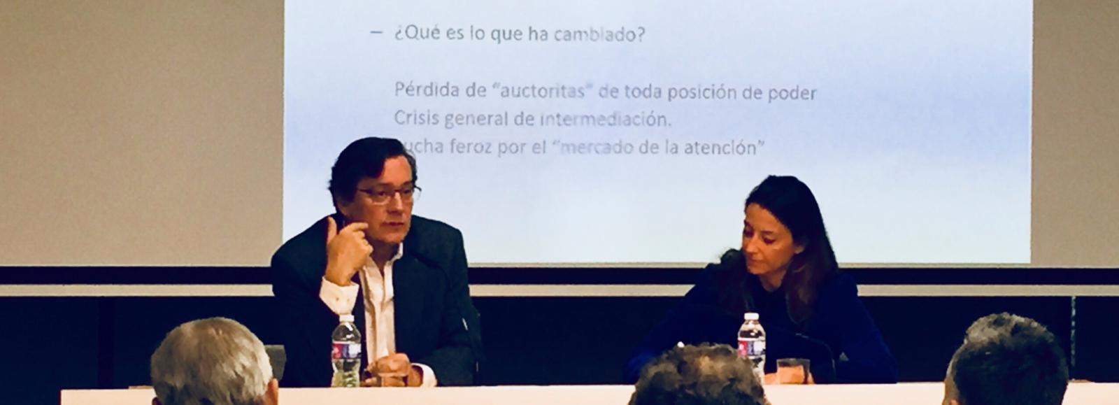 """Fernando Vallespín: """"La revolución digital ha creado una lucha feroz por el mercado de la atención"""""""