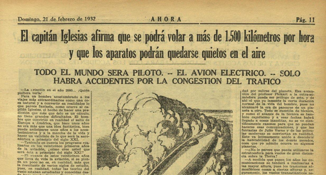 Cómo imaginaron los sabios de 1932 el futuro en el año 2000